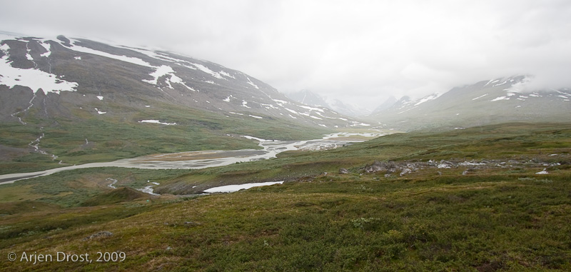 Bad weather on Snavvavage. Sarek