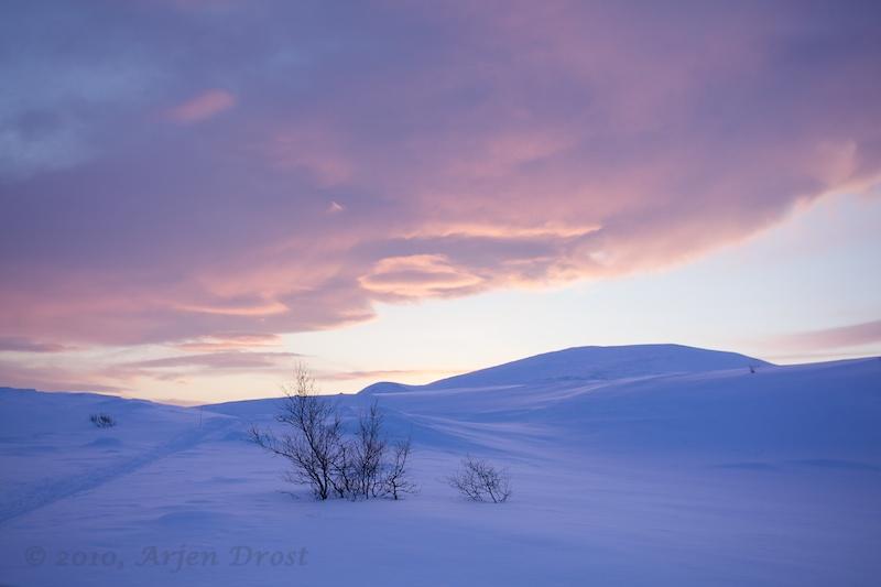 Sunset in Dovrefjell